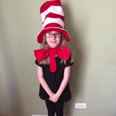 Student Wearing Dr. Seuss Hat